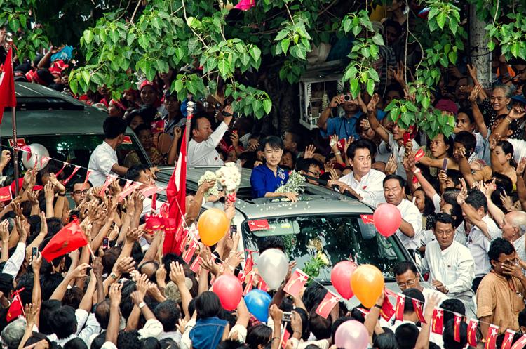 Su-Ťij v Rangúne