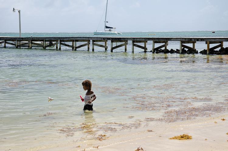 Na koralovom ostrove Caye Ambergris v Belize