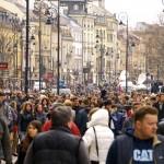 Varšava po Smolensku: davy a námestia