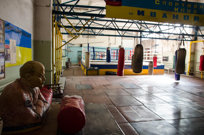 Boxerské zátišie s Vladimírom Iljičom