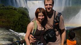 Pri vodopádoch Iguaçu z brazílskej strany