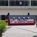 Príprava na jeden z Chávezových pouličných mítingov.JPG