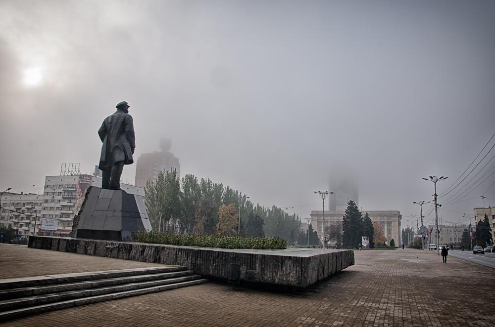 Pochmúrny deň v Donecku