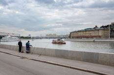 Moskovská nostalgia na brehu rieky Moskva
