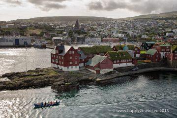 Pohľad na Torshavn, hlavné mesto (dedinu) Ferských ostrovov