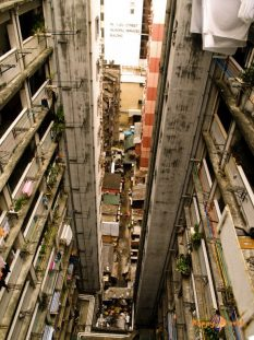 Pohľad z nášho hongkongského hostela