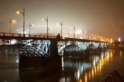 Most Księcia Józefa Poniatowskiego v noci