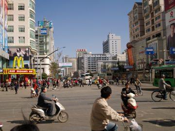 V uliciach Kunmíng, Čína