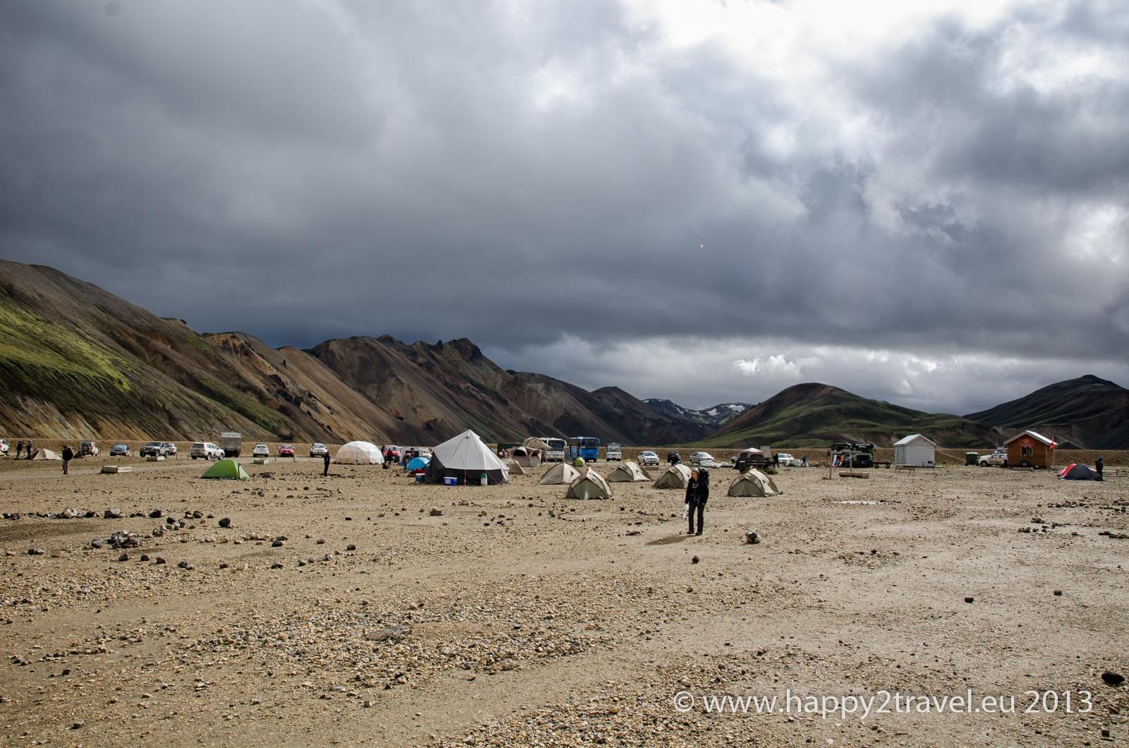 Základný tábor v Landmannalaugar