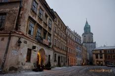Lublin: zimný súmrak
