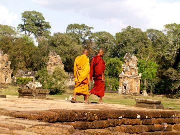 Budhistické zátišie v Angkor Vat, Kambodža