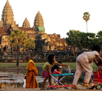 Deti Kambodže: domorodé dievčatko.