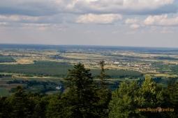 Pohľad z vrchu Łysa Góra (595 m. n. m.)
