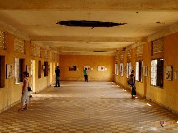 Ďalší pohľad na tajné väzenie S-21, dnes kambodžské múzeum genocídy