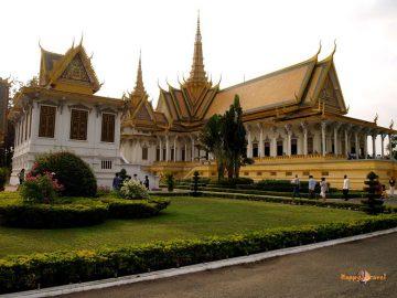 Kráľovský palácový komplex v hlavnom meste Phnom Penh, Kambodža
