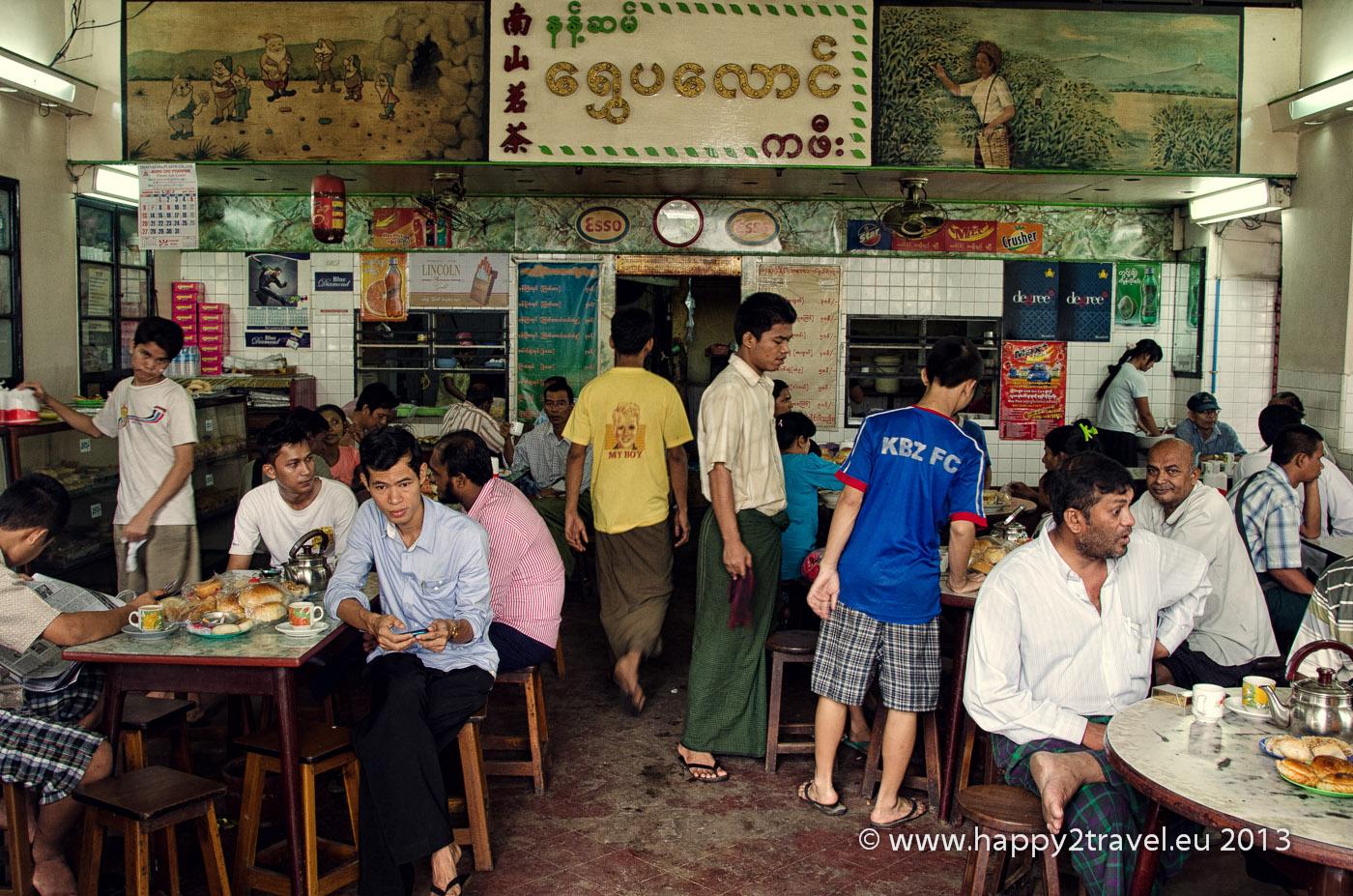 Tradičná barmská čajovňa