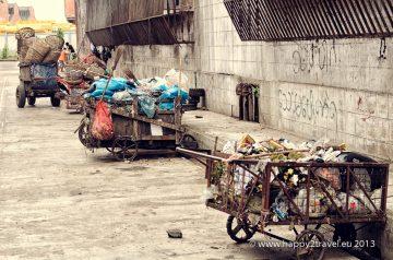 Bočné uličky Rangúnu