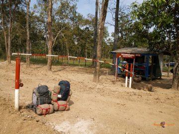 Hraničná závora medzi Kambodžou a Laosom