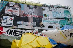 Španielsko v tieni sociálnychg protestov: demonštranti kočujúci na hlavnom madridskom námestí
