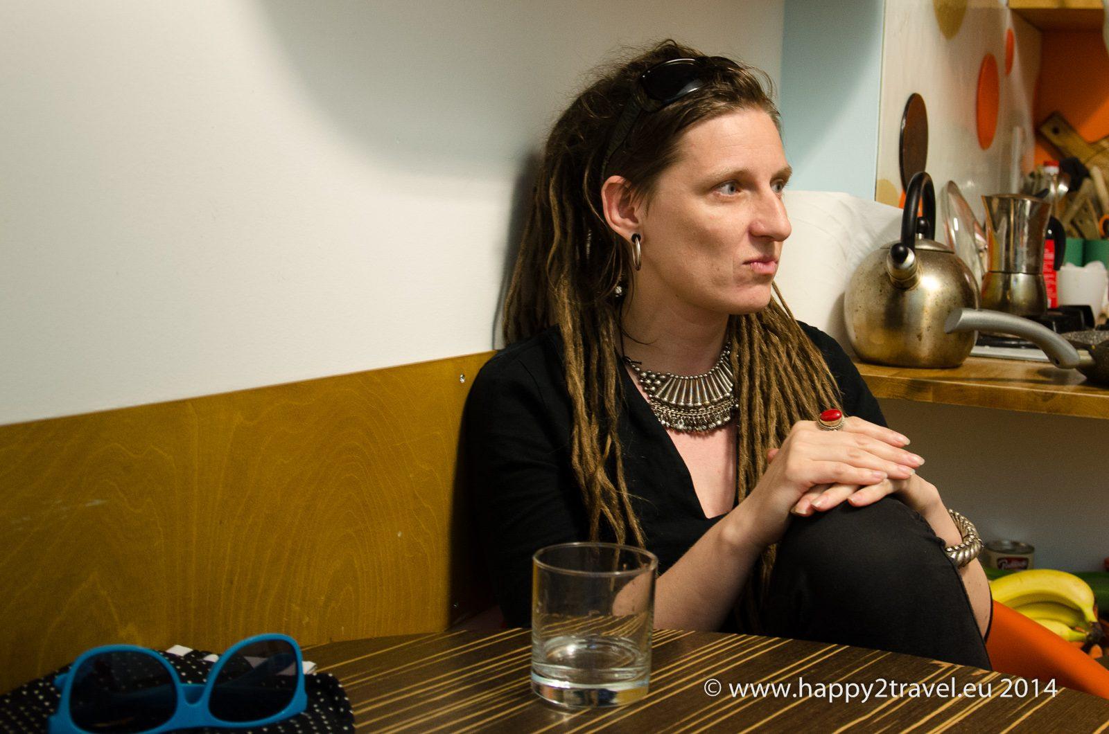 Agata je aktivistka z mimovládnej organizácie Nomada